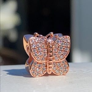 Pandora Rose Sparkling Butterfly Charm